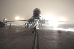B-1B bomber leaving Ellsworth Air Force Base in South Dakota