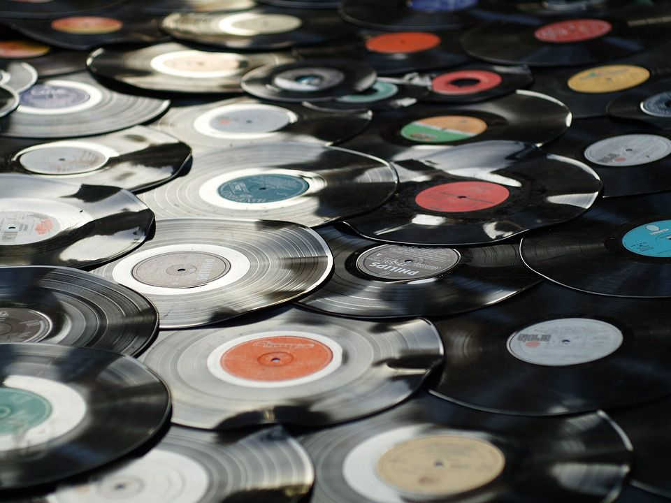 Vintage Vinyl Record Albums and 45s