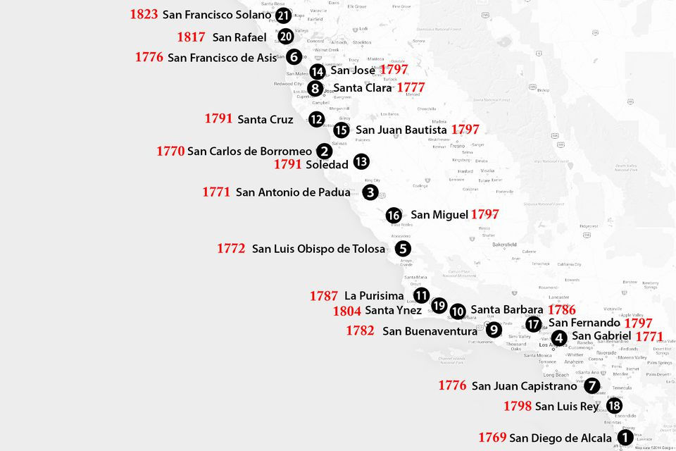 California Missions Map Where To Find Them - California missions map