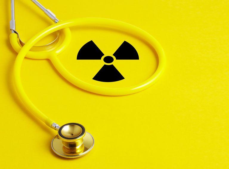 Stethoscope and Radioactive sign