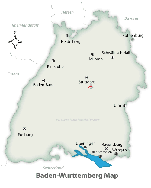 Baden Wurttemberg Map and Travel Guide