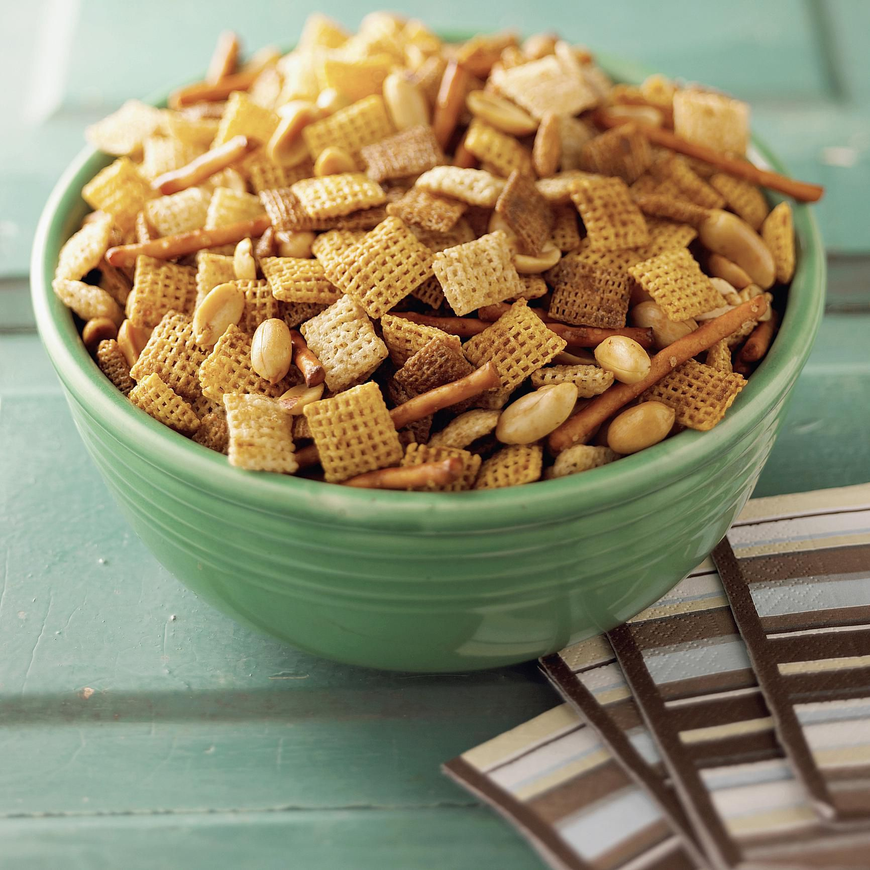 Sweet Baked Caramel Chex Mix Recipe