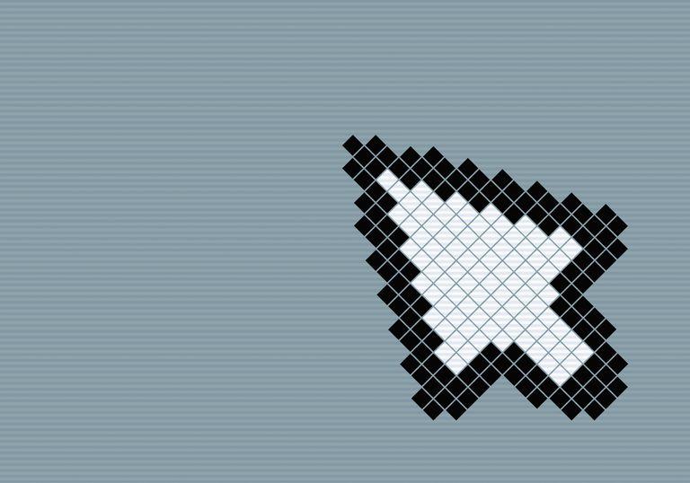 8-bit style cursor arrow