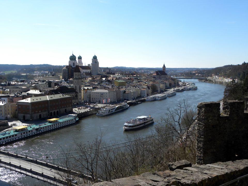 Passau, Germany is a city on three rivers