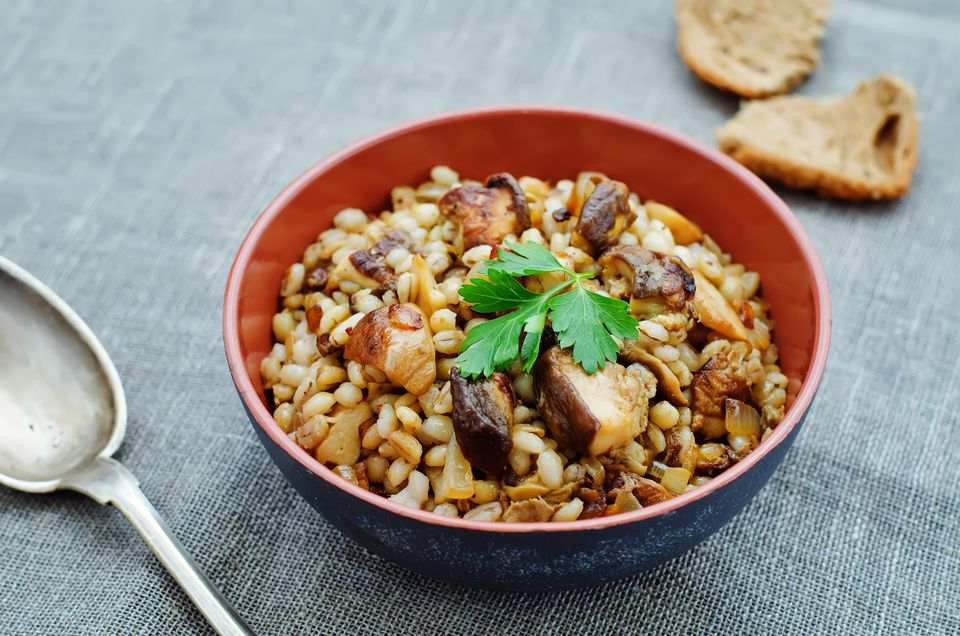 barley porridge with mushrooms