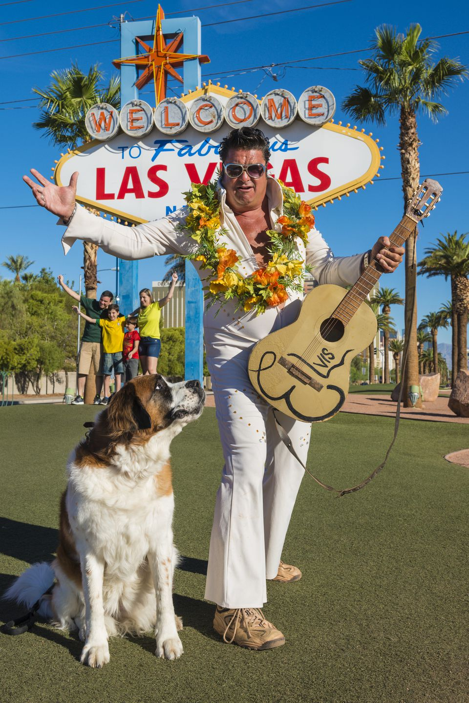 Elvis Presley impersonator on Las Vegas Boulevard