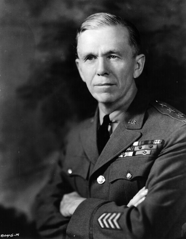 Picture of Secretary of State George C. Marshall, author of the Marshall Plan.