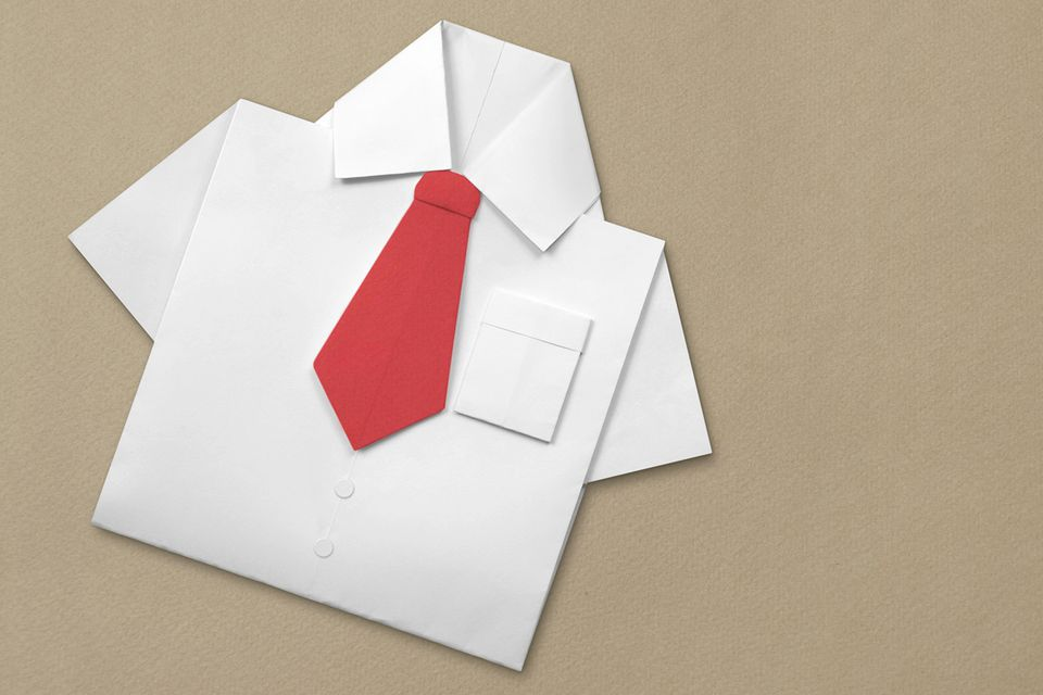 Origami tie instructions for Craft work with paper folding