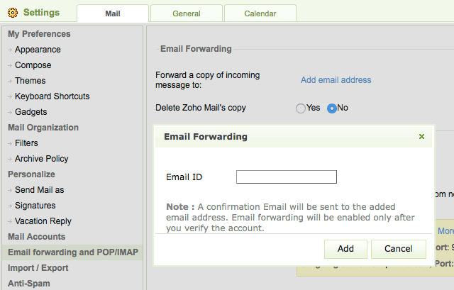 Setting up Email Forwarding in Zoho Mail