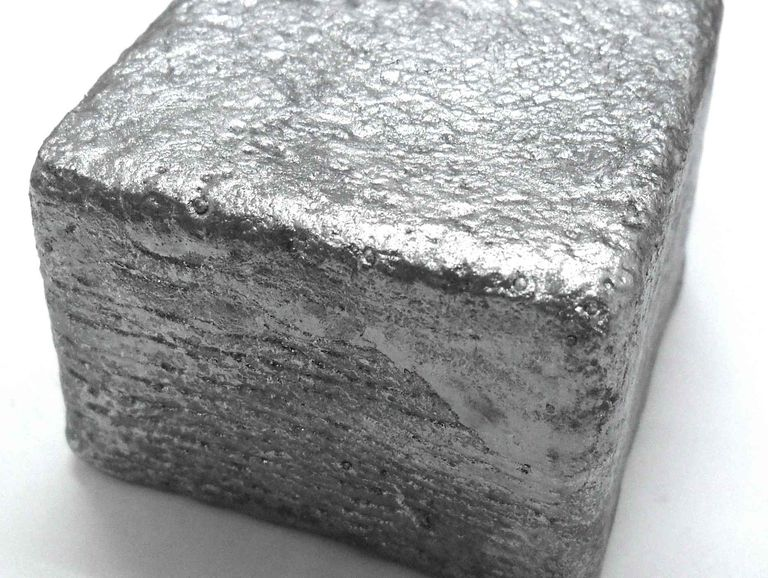 An ingot of the metalloid tellurium