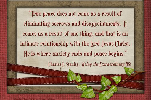 Words of Encouragement for Men: Christ is the Source of True Peace