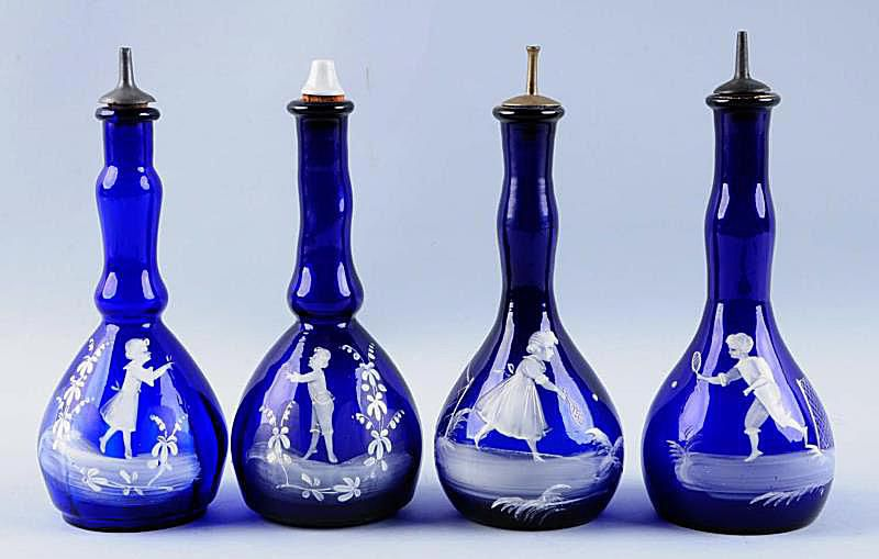 Mary Gregory Barber Bottles