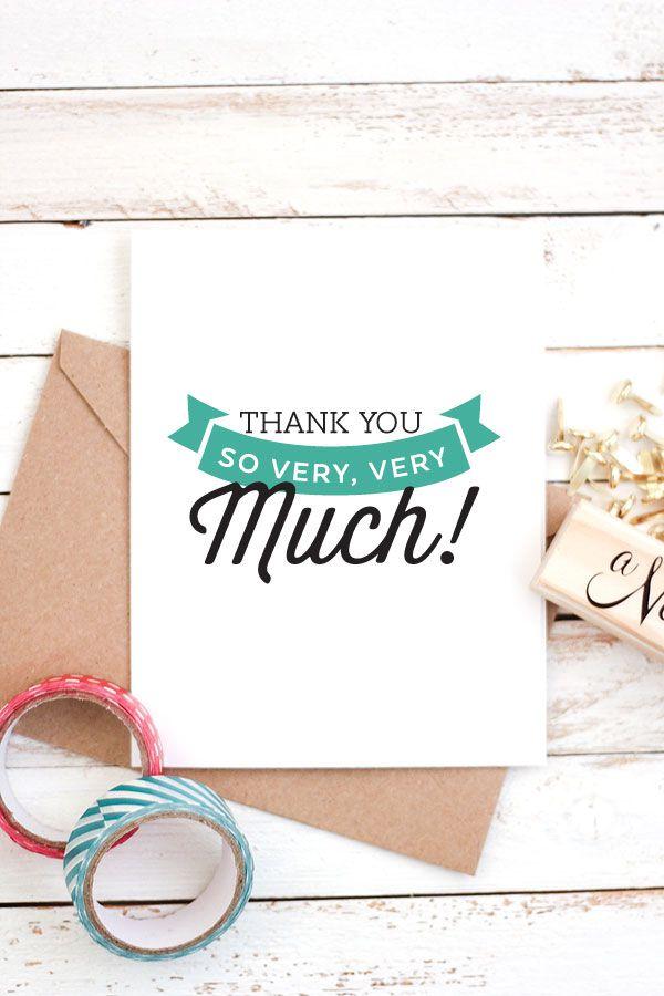 17 Gorgeous Free Printable Wedding Thank You Cards – Thank You Card Template Wedding