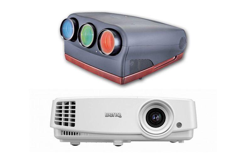 Video Projectors - CRT (top) vs Lamp (bottom)