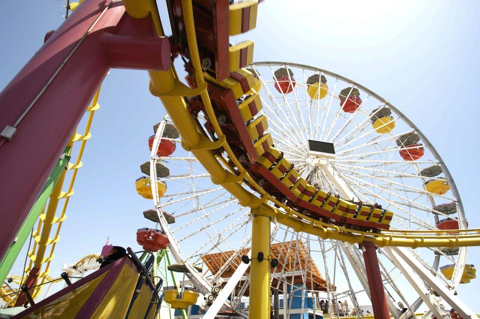 Amusement rides at Pacific Park, Santa Monica Pier.Lou Jones