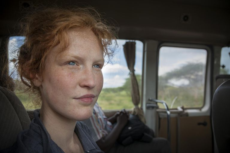 A woman traveling in Africa