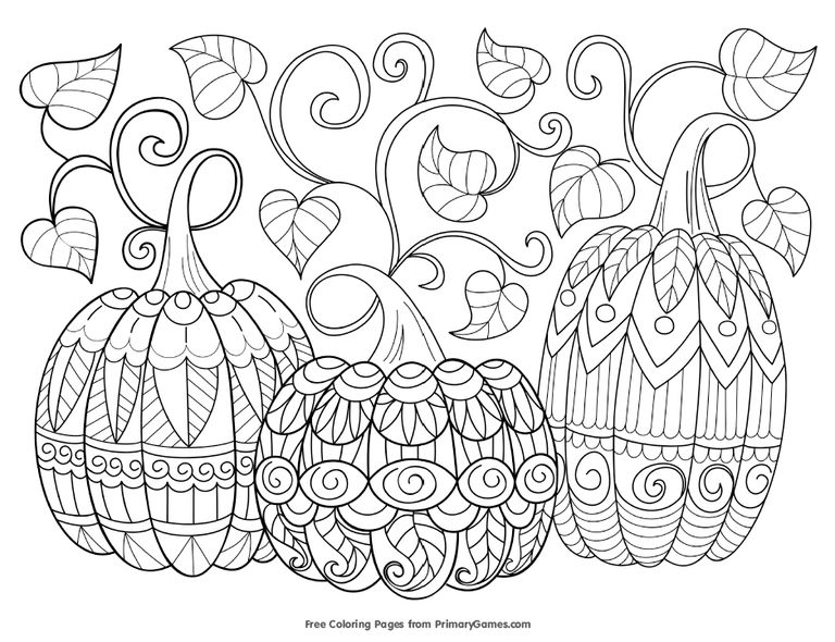 printable fall coloring pages - photo#34
