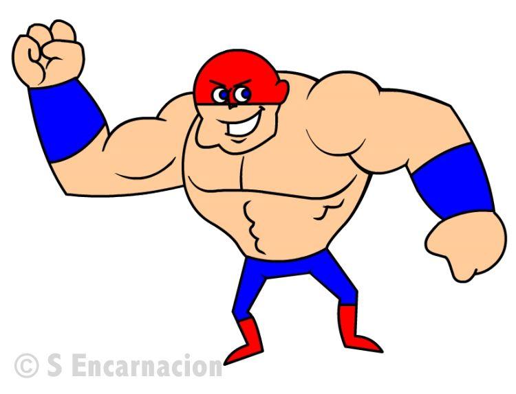 draw a cartoon tough guy muscle man