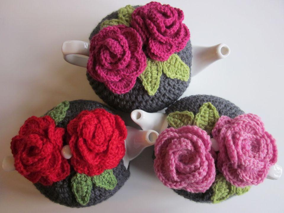 Roses Tea Cosy Free Crochet Pattern