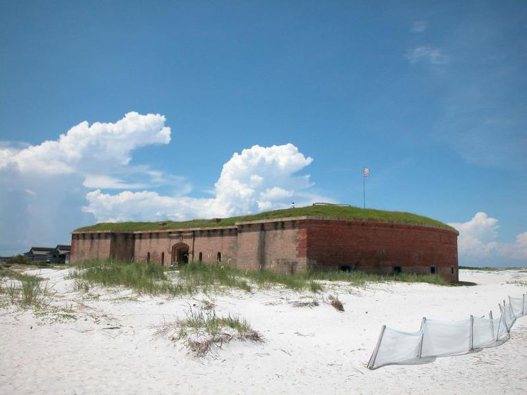 Fort Massachusetts located on West Ship Island, Mississippi
