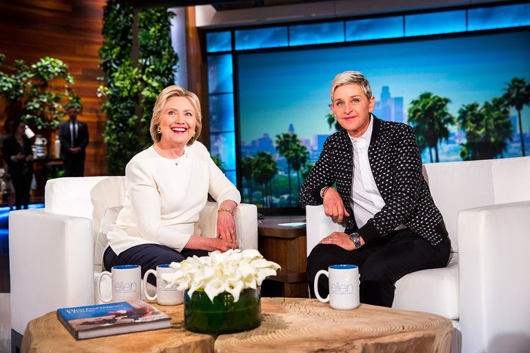 Hillary Clinton as a guest on The Ellen DeGeneres Show