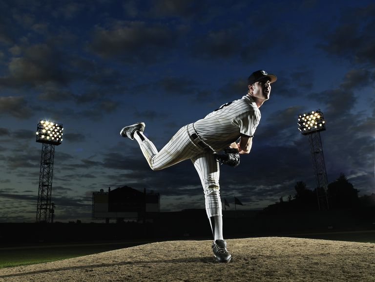 Photo of a baseball pitcher.