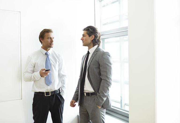 Corporate businessmen having casual meeting