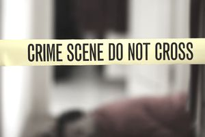 CSI: Murder victim and crime scene tape