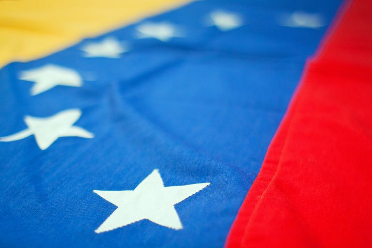 close up of the Venezuelan flag