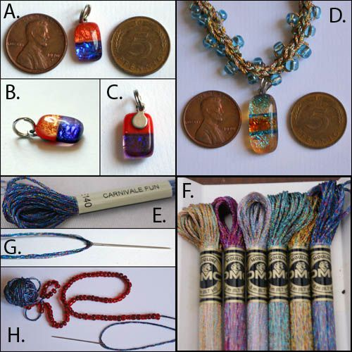 Photos of Supplies for Making the Beaded Crochet Necklace