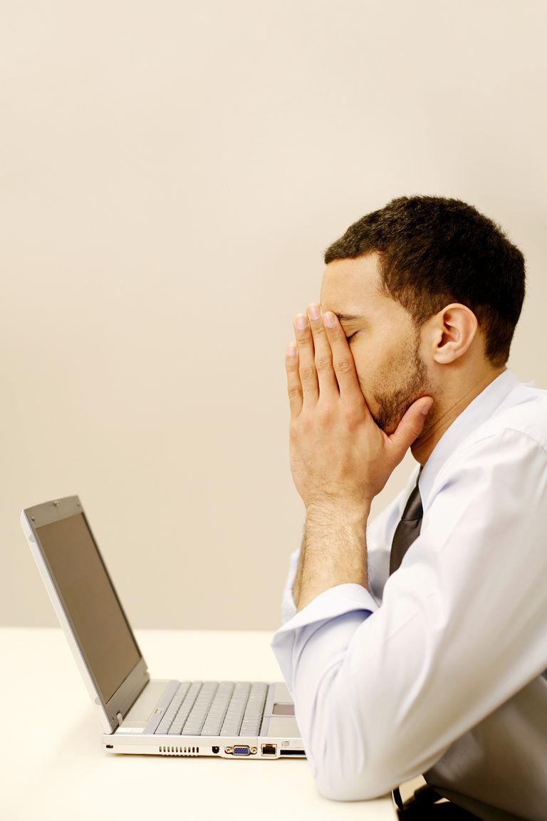 An overworked businessman