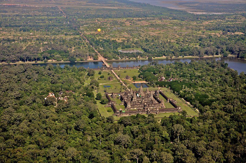 Angkor Wat, Cambodia from the air