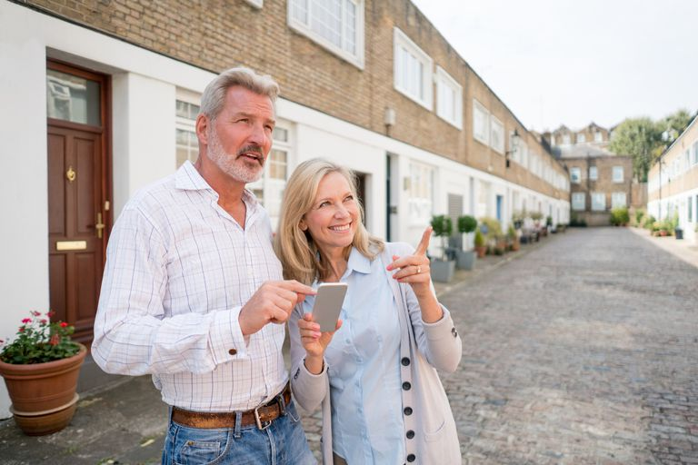 Couple looking for a house