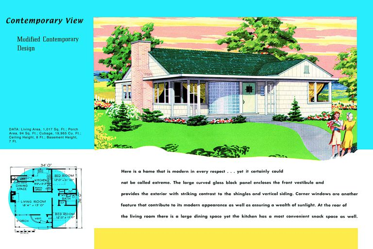 What is that minimal yet traditional house style for 1950s bungalow floor plan