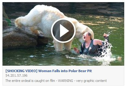 SHOCKING VIDEO Woman Falls into Polar Bear Pit