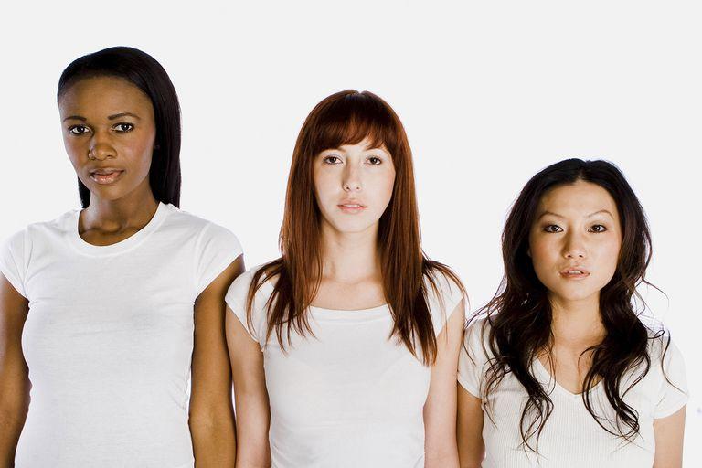 Three women in tee shirts