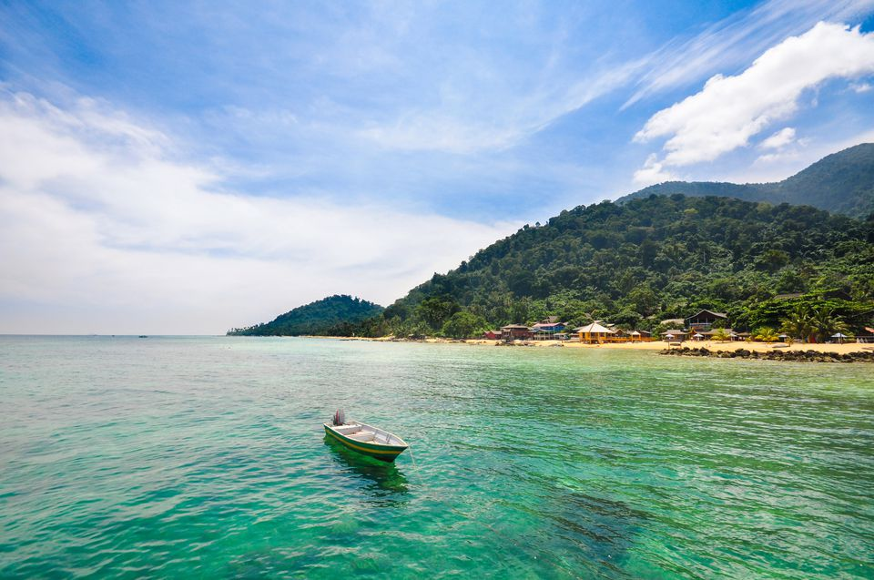 Small boat in the Tioman Island