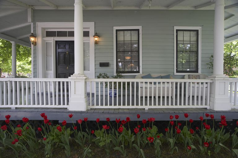 Painting The Exterior Of Your Home exterior painting Dark Colored Window Sashes Add Interest To A Seafoam Green Cottage Especially At Tulip