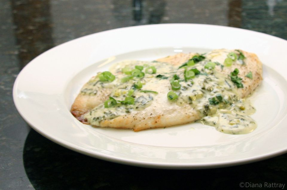 Tilapia with Cilantro Cream