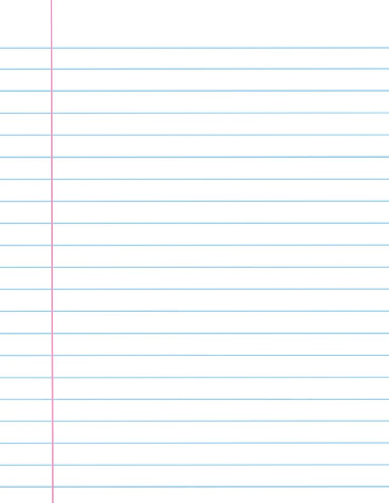 Notebook paper