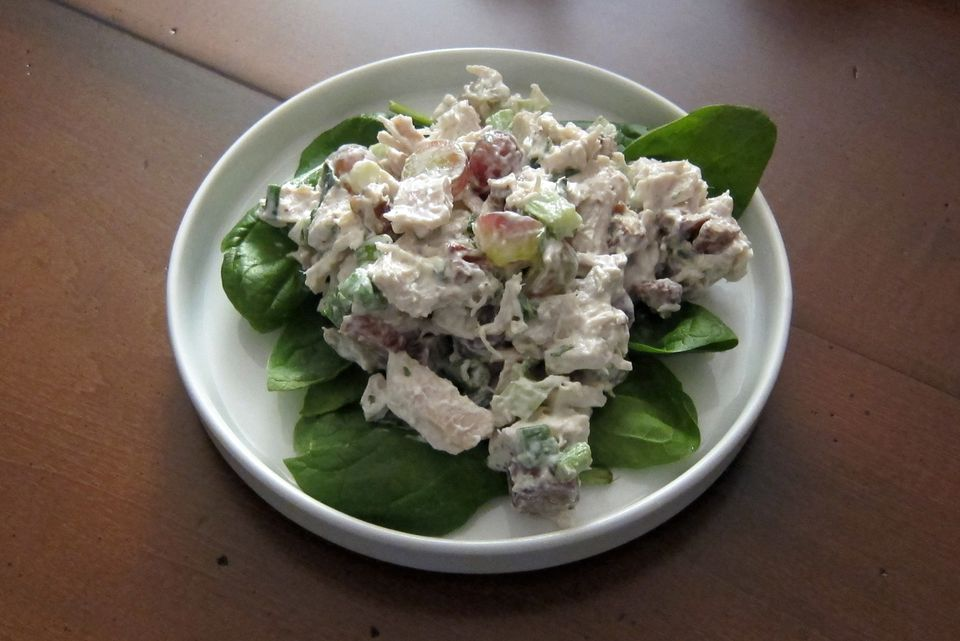 Turkey Salad with Grapes