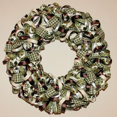 How to make a ribbon wreath craft Making wreaths