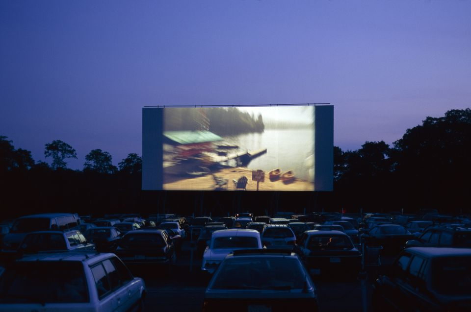 Cars at drive-in movie