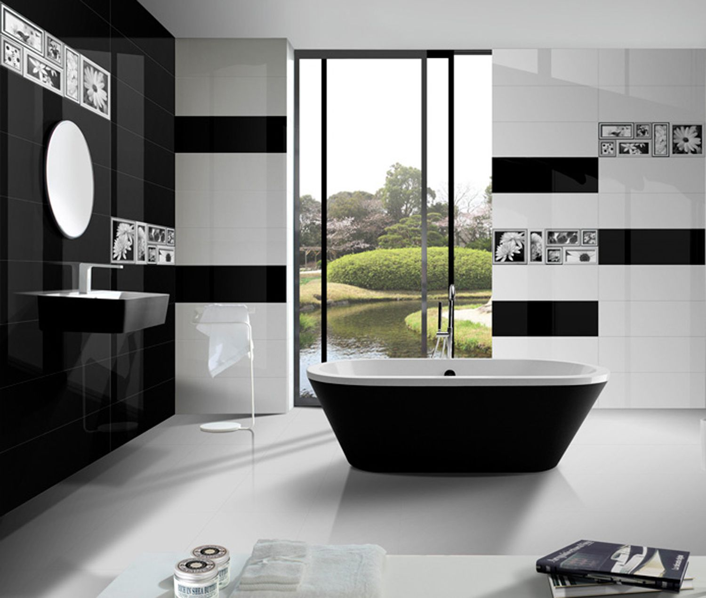 100 black and white floor tile bathroom black simple bathro