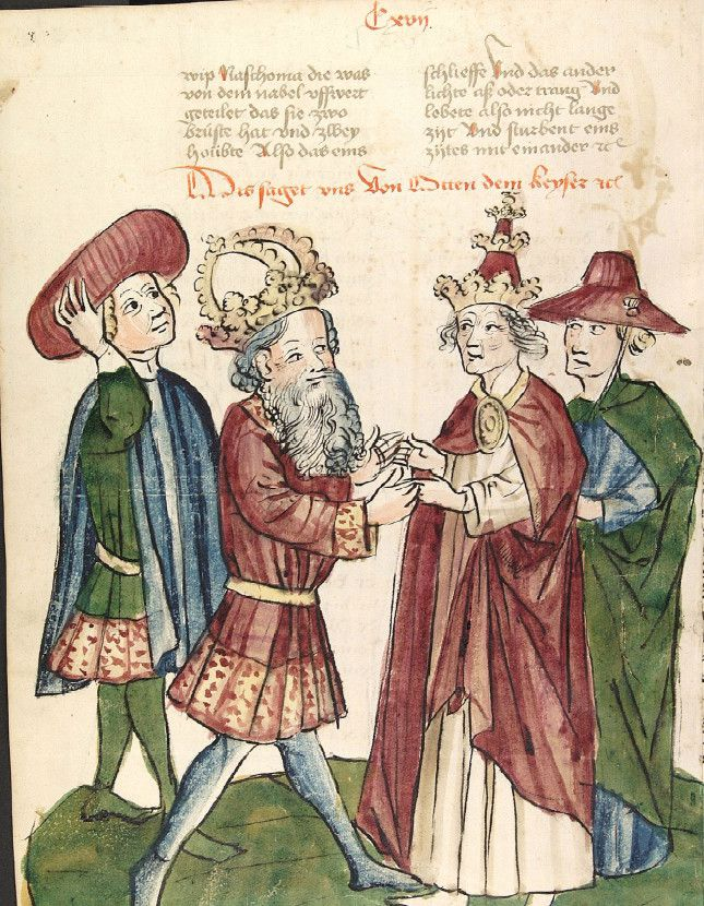 Kaiser Otto d. I. begegnet Papst Johannes XII.