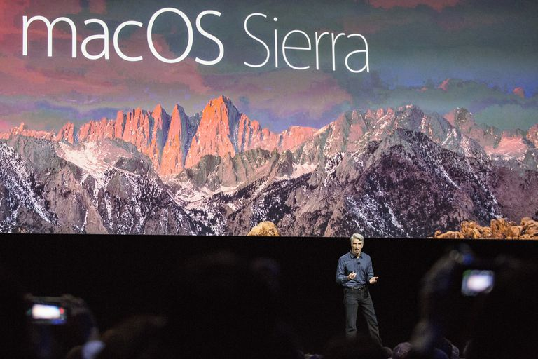 Craig Federighi, Apple's senior vice president of Software Engineering, introduces the new macOS Sierra software