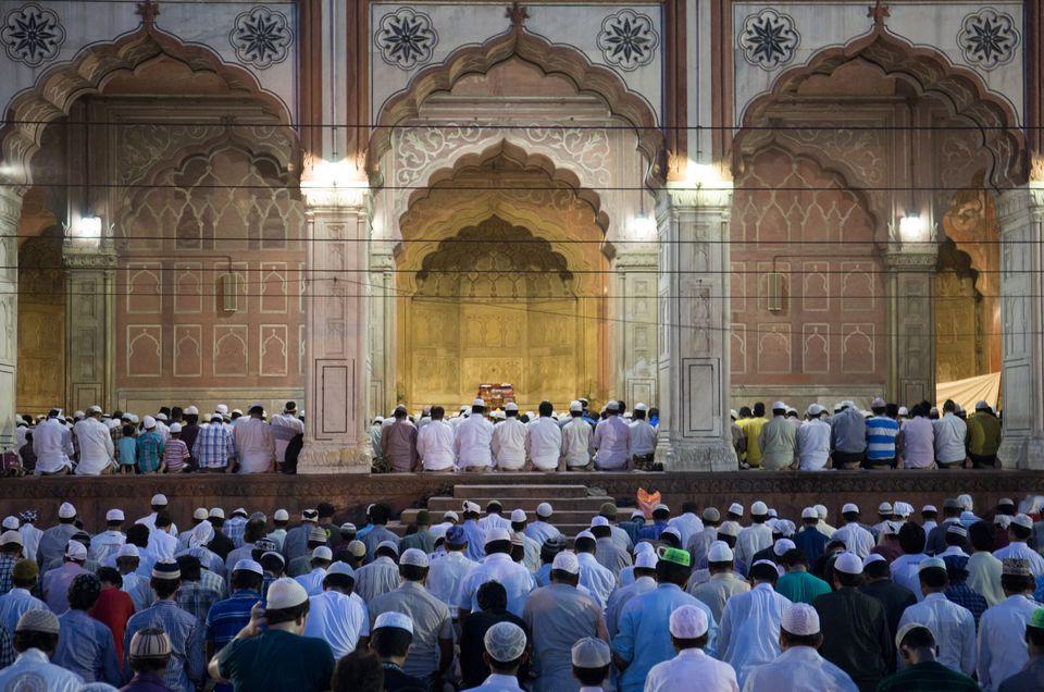 Ramadan or Ramazan prayer at Jama Masjid.