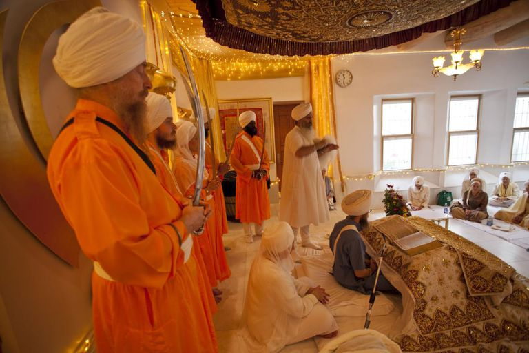 Sikh Reading From Guru Granth Sahib