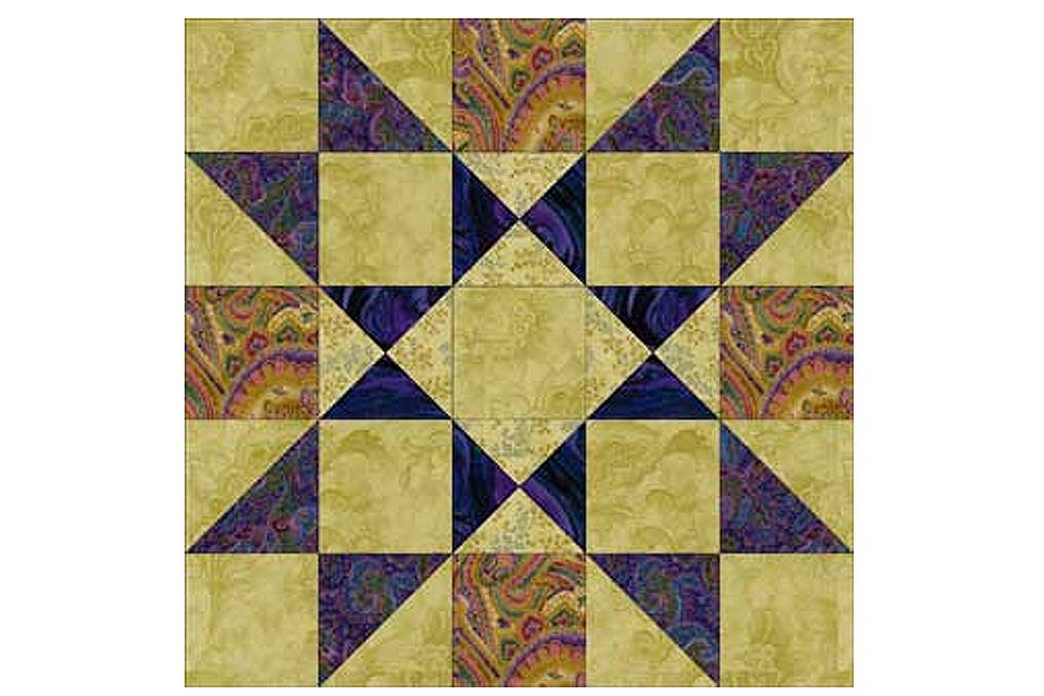 Providence, an Easy Patchwork Star Quilt Block Pattern