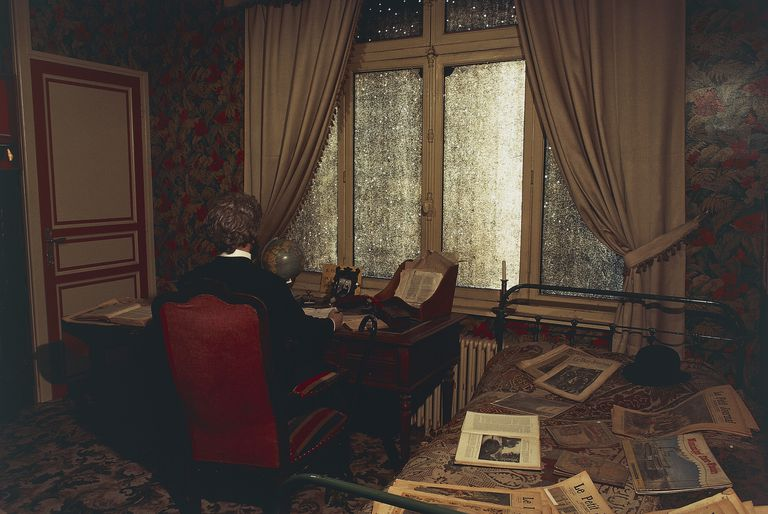 Jules Verne's (1828-1905) study in Jules Verne house-museum, Amiens, Picardy, France